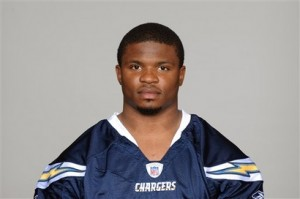 Chargers Player Shot Football
