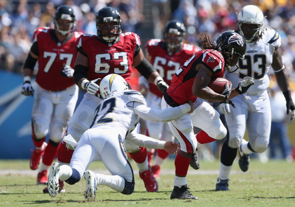 Chargers No Match for Falcons in 27-3 Beating to Fall to 2-1