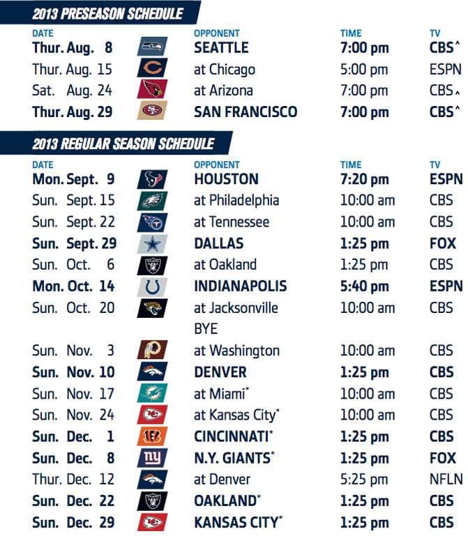 chargers announce 2013 regular season schedule chargers gab
