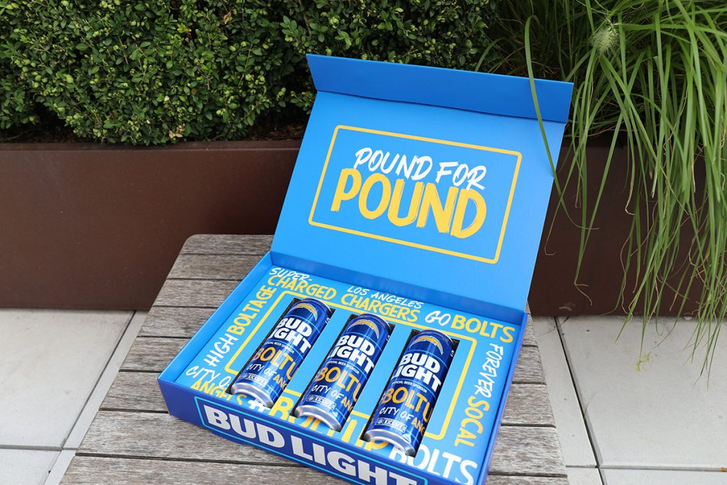 Bud Light Chargers Cans